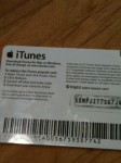 back of itunes card