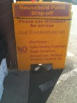 Sign at the Recycling Center.  They actually let you bring in more than 10 cans!