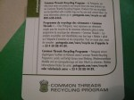 Common Threads Recycling Program