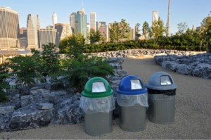 Please recycle at Brooklyn Bridge Park!