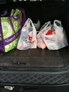 bags in car