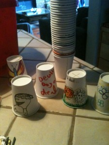 decorated thump cups!